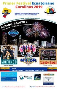 poster for the Ecuadorian Festival in Charlotte, NC