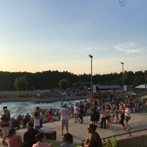 river jam at the US National Whitewater Center in Charlotte, NC