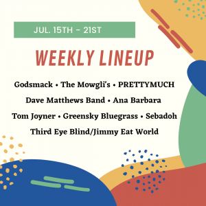 list of concerts in charlotte nc week of 7-15-19