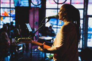Paulina Simone singing in Charlotte, NC