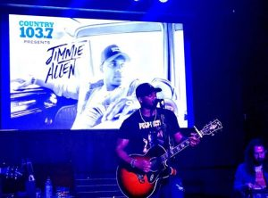 Jimmie Allen performing at Whisky River in Charlotte, NC
