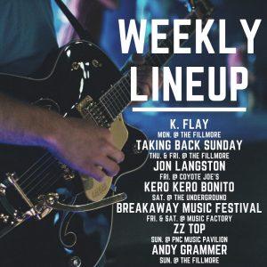 Charlotte concert lineup week of 9/30/2019