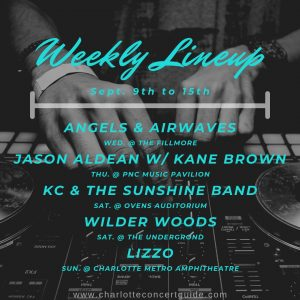 concerts charlotte nc week of 9/9/2019