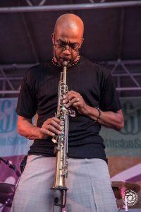Dee Lucas playing saxophone