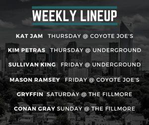 charlotte concert lineup week of 11/11/2019