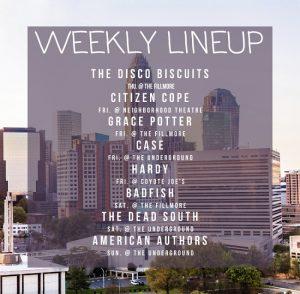 charlotte concert lineup week of 1/13/20