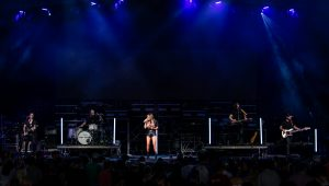 Carly Pearce performing in Charlotte
