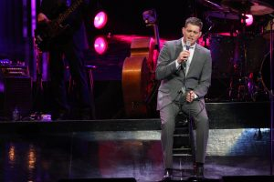 Michael Bublé performing live